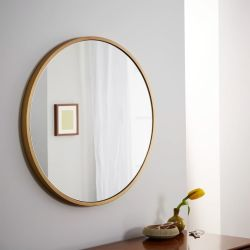 앤틱 브래스 메탈 프레임 프레임의 홈 인테리어로 꾸며진 거울 속의 욕실 거울