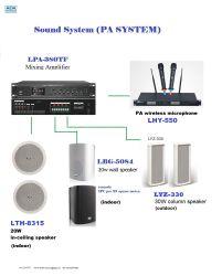 Системы голосового оповещения усилитель+динамик+МИКРОФОНА совещания настенные АС с CE система голосового оповещения