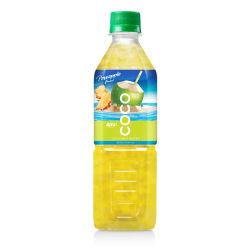 Frasco Pet 500ml de água de coco com sabor de ananás