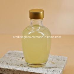Стеклянную бутылку сока напитки уксус расширительного бачка с помощью винта упаковки металлической крышки