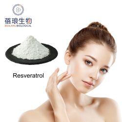 Extracto de planta de la naturaleza Resveratrol antioxidante beneficios de la entrega de la fábrica de recursos CAS: 501-36-0.