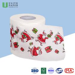Ulive Xmas 화장실 종이, 재미있는 메리 크리스마스 패턴 화장실 종이 롤 인쇄
