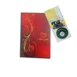 De Chinese Fsupplier Gepersonaliseerde Kaart Custome van de Kaart van de Groet van de Muziek Muzikale Zingende