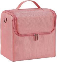 Salão de Arte da Unha Caixa de cosméticos cosmética jóias para casos com tecido de nylon com alça para transporte