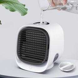 Logotipo do grossista impresso portátil de mão Ventilador Mini USB Eléctrico Carregamento direto do ventilador de refrigeração Dom para Home Office carro (FAN-16)