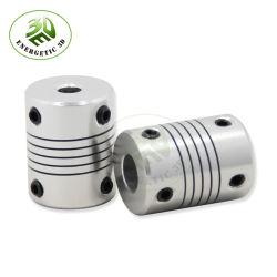 Aluminium CNC-motorkoppeling met aandrijfas 5 mm tot 8 mm flexibel Koppeling OD 19X25mm 3D-printeronderdelen