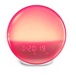 7 Digital cambia de color Wake-up Light Sunrise Sunset Tabla de simulación Despertador