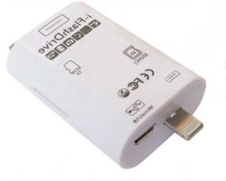 I-Flashdrivehd OTG Support de lecteur de carte TF/carte SD pour iPhone 6 Plus 5 5s l'iPad (OM-P902)