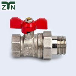 Латунные газ шаровой клапан воды с ручкой в форме бабочки, EN331 стандарт