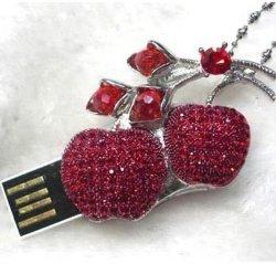 Ювелирные изделия флэш-накопитель USB с Diamond, увеличился в размере диска, Лучший свадебный подарок