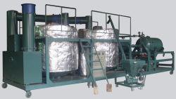 Utiliza máquina de reciclaje de aceite de motor de gasolina de color negro