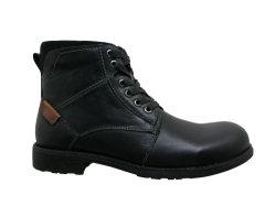 Nuevos hombres clásico Botas de cuero Botas de seguridad británicos Retro MID Cut Lace-up con el talón de la vaca Popular Suede trabajando en el exterior Zapatos de Vestir