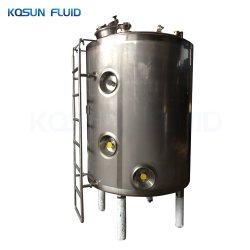 Aço inoxidável Ss Depressão isolada na Vertical e Horizontal de água quente com água gelada do fabricante do tanque de armazenagem de solventes