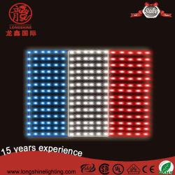 실외 광고 프랑스 깃발 스트립 야외 장식을 위한 조명