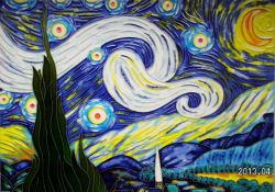 Peinture murale décorative peinte à la main DT6271