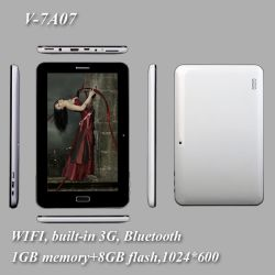 "7"" Tablet PC / MID WiFi +3 G, 1 GB, 8 GB,"