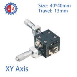 40x40mm axe des XY Presicion étape de traduction avec croix galets de guidage