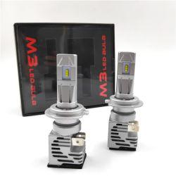 1 paire de haute qualité H7 H11 H4 9005 9006 voiture M3 Kit d'ampoule de projecteur à LED 90W haute puissance 16000LM Zes PROJECTEUR LAMPE 6500K de la lumière blanche Dropshipping lampes automatique