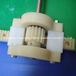 Cremagliera di ingranaggio di plastica su misura mestiere lavorante Nylon66 di CNC