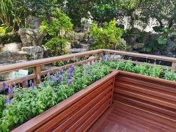 Gd Aliminum standard de profils pour le nouveau type de grain du bois d'aluminium pot de fleurs de jardin