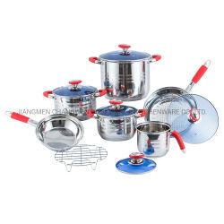 12 PCS utensílios de cozinha cozinha de aço inoxidável indução panelas