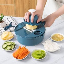 다기능 식물성 절단기 12 피스 가구 감자 절단기 무 강판 부엌 저미는 기계