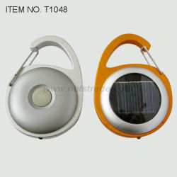 Mosquetão Solar lanterna LED de Serviço Pesado (T1048)