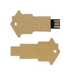 친환경 용지 재활용 키 형태의 USB 플래시 드라이브