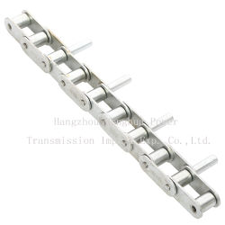 La cadena transportadora de paso doble con pasadores extendida 11419-3pzp