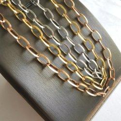 Il modo del fornitore ha lucidato la collana Chain d'acciaio del braccialetto dei monili placcata oro ovale del calzino 316L Belcher Rolo del collegare del triangolo per il disegno dei monili/vigilanza/di vetro