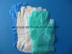 Estirar los guantes de vinilo sintético para el examen