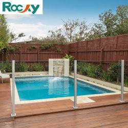 로키 알루미늄 기둥 야외 빌라 펜싱 강화 라미네이트 유리 정원 12mm의 강화 안전 유리 수영장 펜스