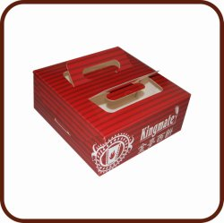 Caja de embalaje del medio ambiente con el PVC Ventana Perspectiva de la torta