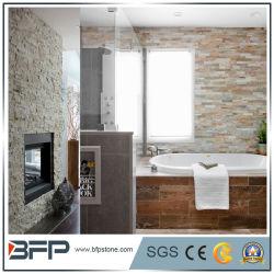 Weißer natürlicher Quarz-Schiefer-Leiste-Stein für Wände