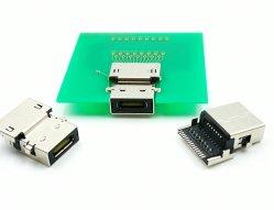 USB3.1 الموصل الأنثوي من النوع C 9+15 سن، DIP+SMD، ناقل الحركة البيانات USB3.1 Gen2، المتانة: 10، 000 دورة أدنى. موصل USB من النوع C، ملحقات الكمبيوتر