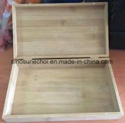 Logo de marque personnalisée Unfinished petite boîte en bois avec l'aimant
