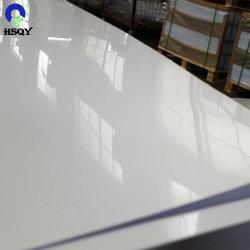 Material de publicidad de PVC de plástico blanco brillante hoja de hoja de PVC rígido PC PS GPP junta