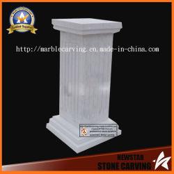 Quadrado branco Pilares do pedestal da coluna Romana para decoração de jardim