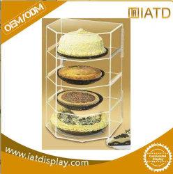 Acrylsupermarkt-kosmetische Uhr-Ausstellung-Fliese-Speicher-Ausstellungsstand-Buch-Zahnstange für Nagellack oben knallen