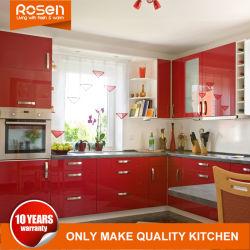 Novas e modernas de Spray Vermelho verniz para venda conjuntos de armários de cozinha