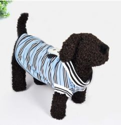 Hund Striped Kleidung-Baumwollweste-grundlegendes Kleid für kleine Hunde