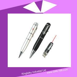 Ponteiro laser caneta de esfera com uma unidade flash USB