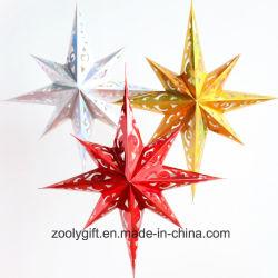 Carte laser de réglage du format de la pendaison Star partie décoration / Hang papier lanternes de forme octogonale vacances de Noël Star