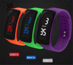 Mens Venda quente LED de borracha da mulher Assista Data Bracelete Desportivo relógio de pulso digital #V805