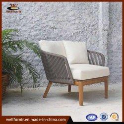 Mobilia esterna della corda dell'hotel del patio di legno di alluminio di svago (Wf-0609)