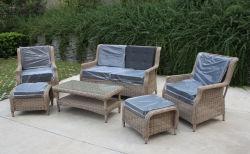 Сад садовой мебелью раттан удобный холл диван-кровать, в европейском стиле и