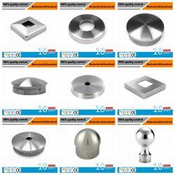 Produits en acier inoxydable/main courante de l'extrémité du tuyau de bouchon/couvercle en acier inoxydable pour rambarde