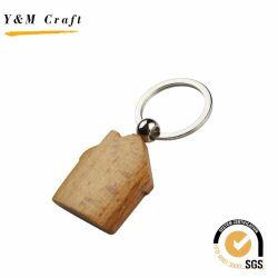 Anello portachiavi di legno del metallo della più nuova di disegno Camera di marchio con l'alta qualità
