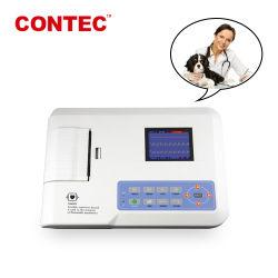 Contec ECG300g-Vet électrocardiogramme portable Vet Machine ECG Animal de la Chine