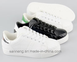 Bequemlichkeit Shoes/Women Sneaker/White Shoes mit PVC Injection Outsole (SNC-49021)